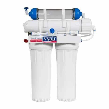 Ro-50 Slim Line 4-Stage Reverse Osmosis 50 Us Gpd (185 Litres) Water Filter System With Di Resin Stage